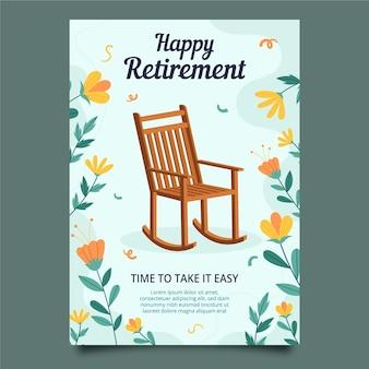 Płaska konstrukcja karty z pozdrowieniami emerytury