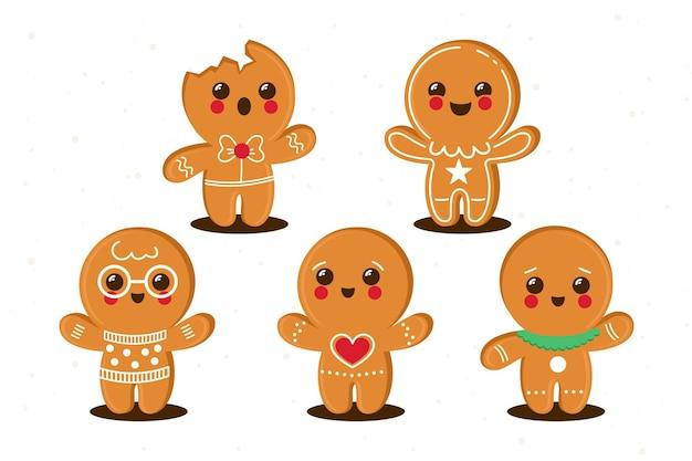 Płaska konstrukcja kolekcja cookie piernika