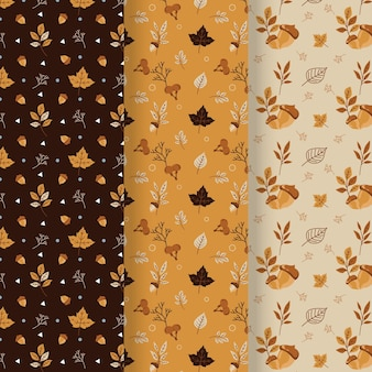 Płaska konstrukcja kolekcja jesień wzór