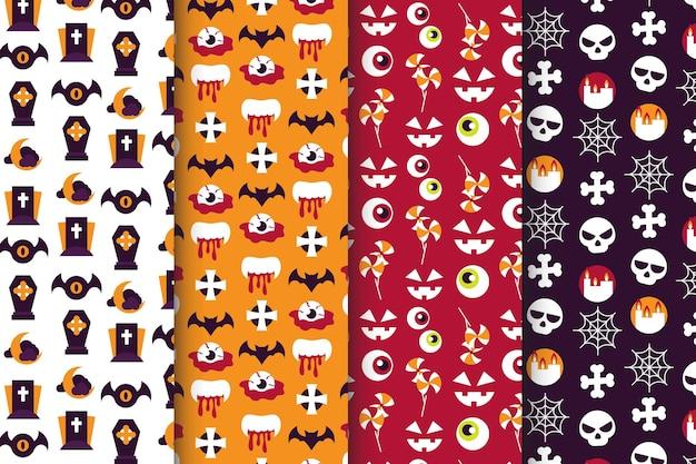 Płaska konstrukcja kolekcja wzór halloween
