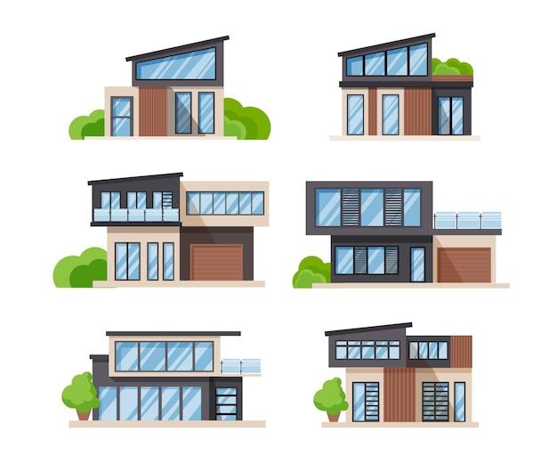 Płaska konstrukcja kolekcji domu ilustracji