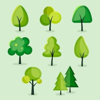 Płaska konstrukcja kolekcji drzew