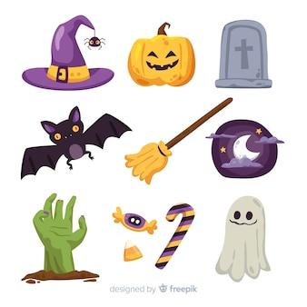 Płaska konstrukcja kolekcji element halloween