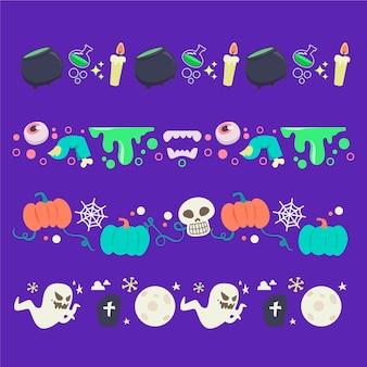 Płaska konstrukcja kolekcji halloween granicy