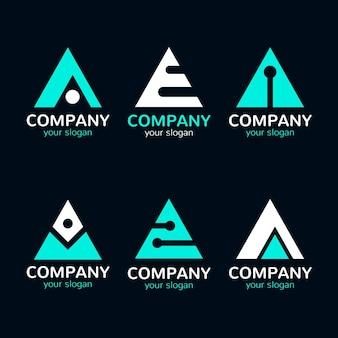 Płaska konstrukcja kolekcji logo
