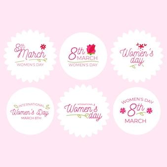 Płaska konstrukcja kolekcji motywu dzień kobiet