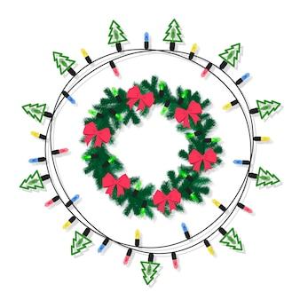 Płaska konstrukcja kolekcji świątecznych dekoracji