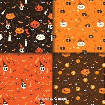 Płaska konstrukcja kolekcji wzór halloween