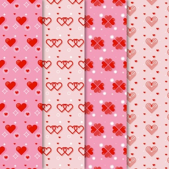 Płaska konstrukcja kolekcji wzór serca