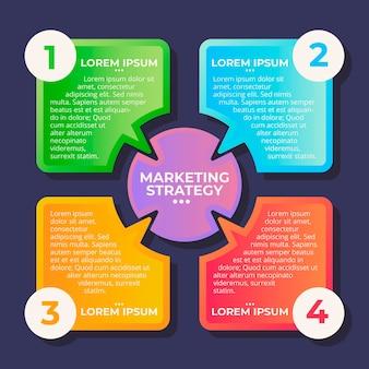 Płaska konstrukcja kolorowe infografiki marketingowe
