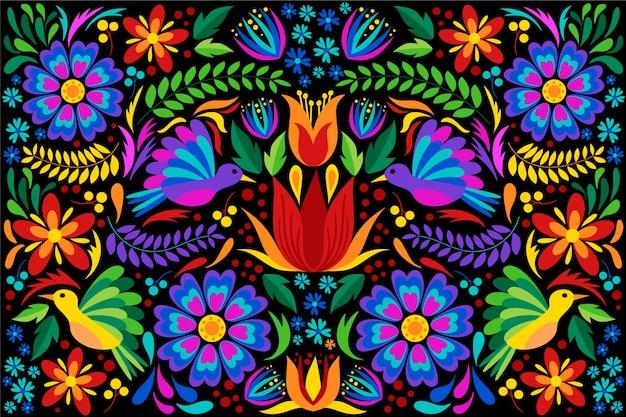 Płaska konstrukcja kolorowe tło meksykańskie