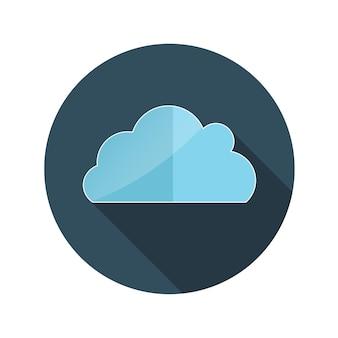 Płaska konstrukcja koncepcja chmura ilustracji wektorowych z długim cieniem. eps10