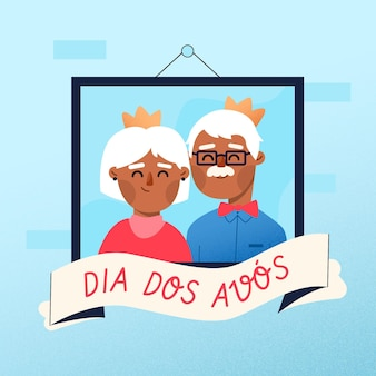 Płaska konstrukcja koncepcja dia dos avos