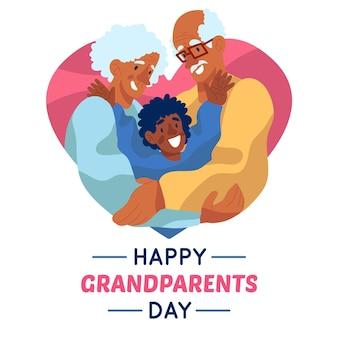 Płaska konstrukcja koncepcja dzień dziadków w usa