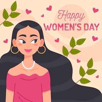 Płaska konstrukcja koncepcja dzień kobiet