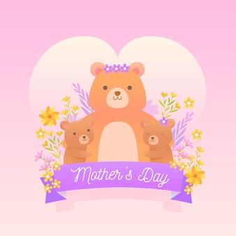 Płaska konstrukcja koncepcja dzień matki