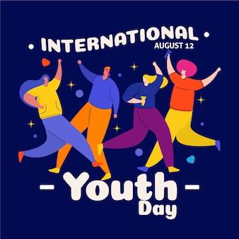 Płaska konstrukcja koncepcja dzień młodzieży