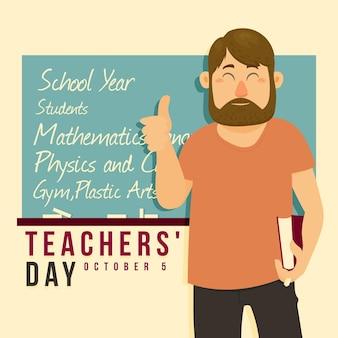Płaska konstrukcja koncepcja dzień nauczyciela