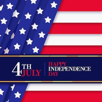 Płaska konstrukcja koncepcja dzień niepodległości