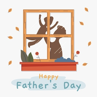 Płaska konstrukcja koncepcja dzień ojców