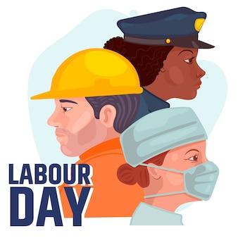 Płaska konstrukcja koncepcja dzień pracy