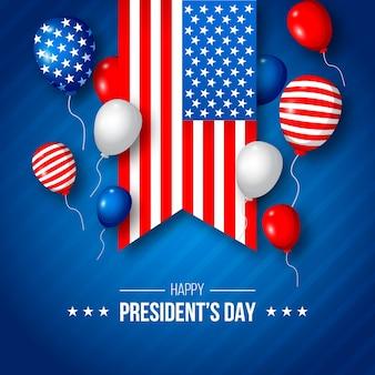 Płaska konstrukcja koncepcja dzień prezydentów