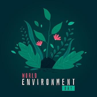 Płaska konstrukcja koncepcja dzień środowiska świata