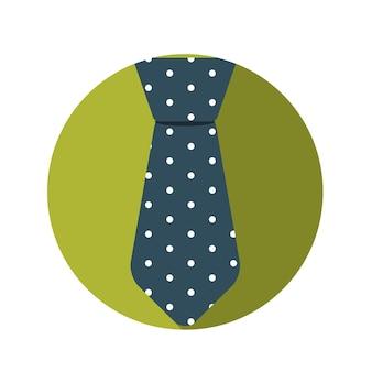 Płaska konstrukcja koncepcja krawat ilustracji wektorowych z długim cieniem. eps10