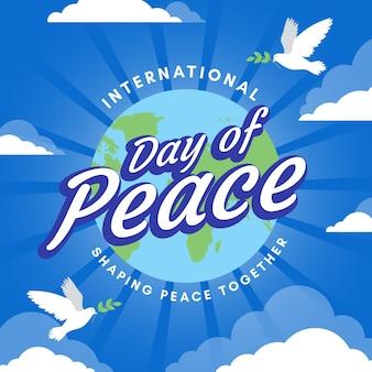 Płaska konstrukcja koncepcja międzynarodowego dnia pokoju