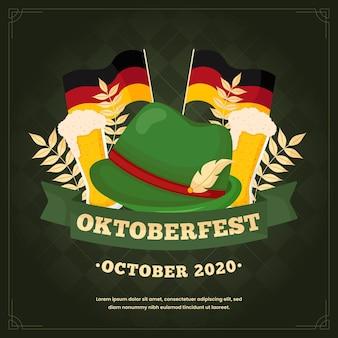 Płaska konstrukcja koncepcja oktoberfest