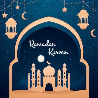 Płaska konstrukcja koncepcja ramadanu
