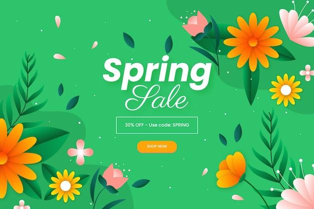Płaska konstrukcja koncepcja sprzedaży wiosennej