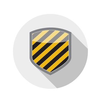 Płaska konstrukcja koncepcja tarcza ikona ilustracja wektorowa z długim cieniem. eps10