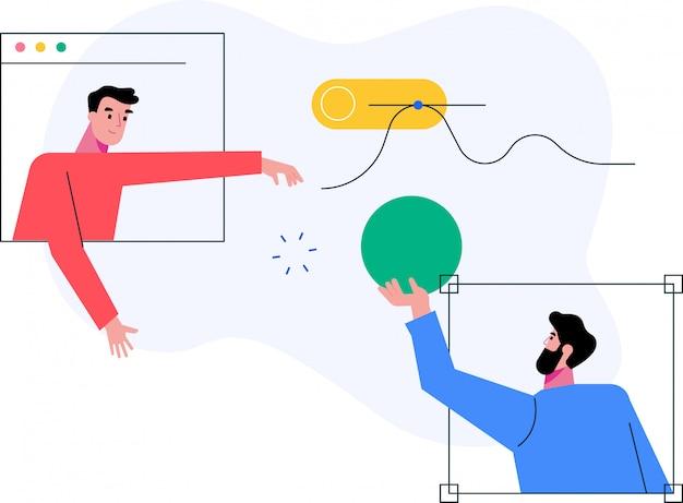 Płaska konstrukcja koncepcji ilustracji wektorowych usług smartphon