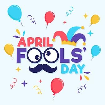 Płaska konstrukcja kwietnia dzień głupców