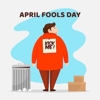 Płaska konstrukcja kwietnia głupców dzień koncepcji