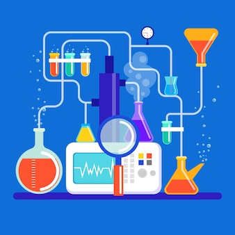 Płaska konstrukcja laboratorium naukowego