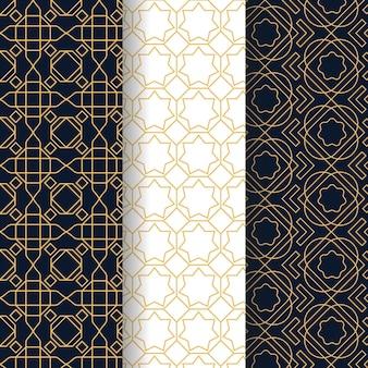Płaska konstrukcja liniowy wzór arabski kolekcja