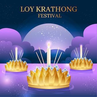 Płaska konstrukcja loy krathong