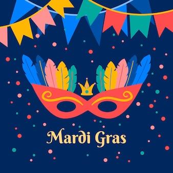 Płaska konstrukcja mardi gras