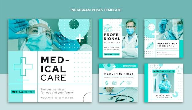 Płaska konstrukcja medycznego posta na instagramie