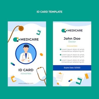 Płaska konstrukcja medycznego szablonu karty identyfikacyjnej