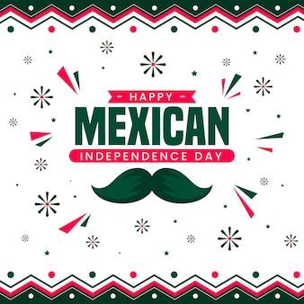 Płaska konstrukcja meksykańskiej koncepcji dnia niepodległości