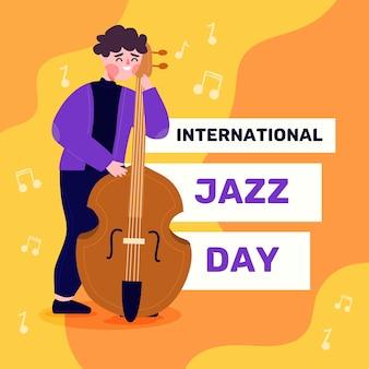Płaska konstrukcja międzynarodowego dnia jazzu