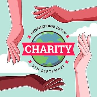 Płaska konstrukcja międzynarodowego dnia stylu charytatywnego