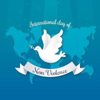 Płaska konstrukcja międzynarodowy dzień koncepcji braku przemocy
