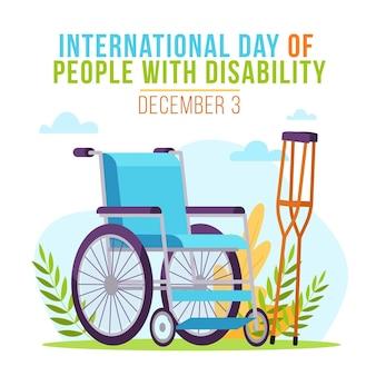 Płaska konstrukcja międzynarodowy dzień osób niepełnosprawnych