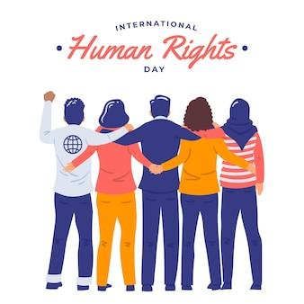 Płaska konstrukcja międzynarodowy dzień praw człowieka