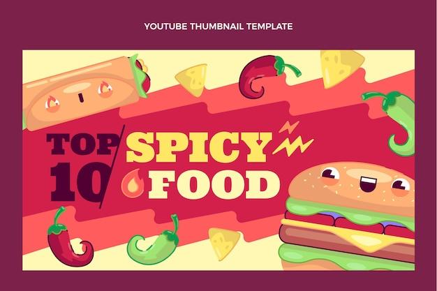 Płaska konstrukcja miniatury youtube żywności