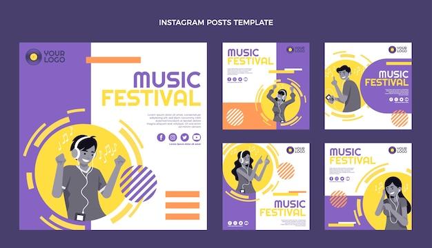 Płaska konstrukcja minimalistycznych postów na festiwalach muzycznych